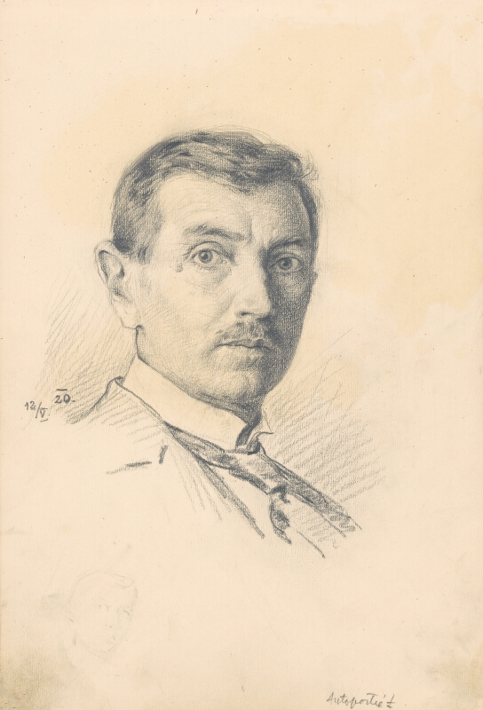 Jaroslav Augusta – Štúdia autoportrétu