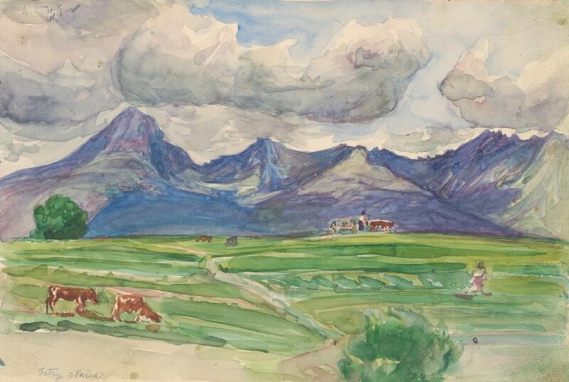 Jaroslav Augusta – Štúdia pohľadu na Tatry