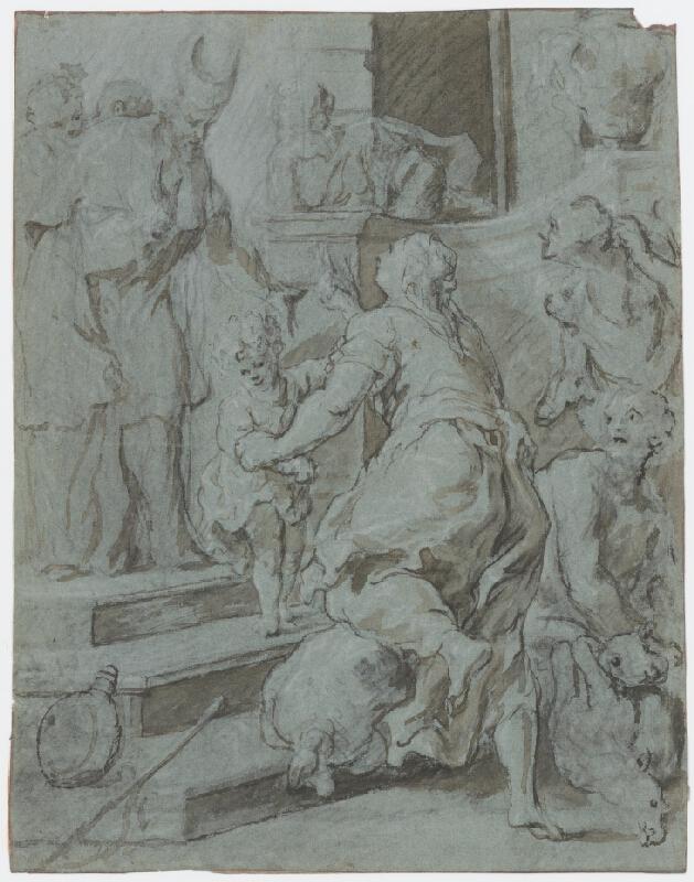 Taliansky majster okolo 1700 - Obetovanie v chráme