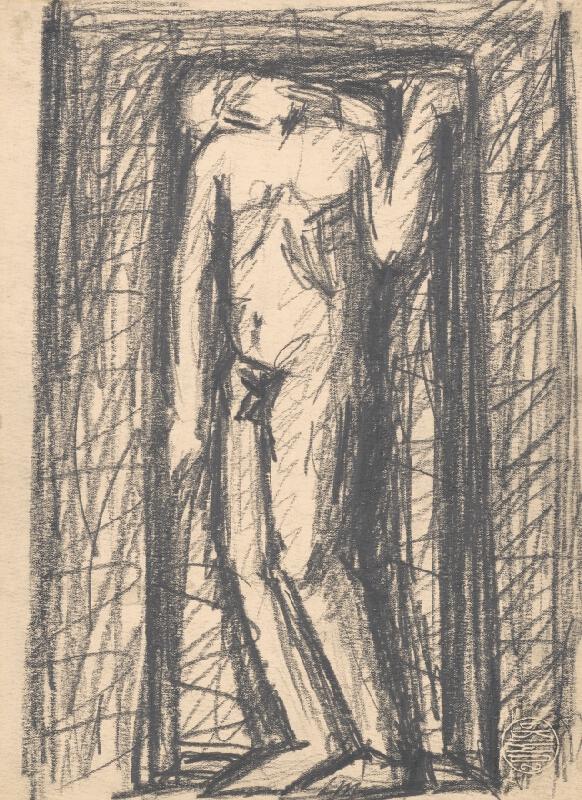 Rudolf Uher - Stojaci mužský akt