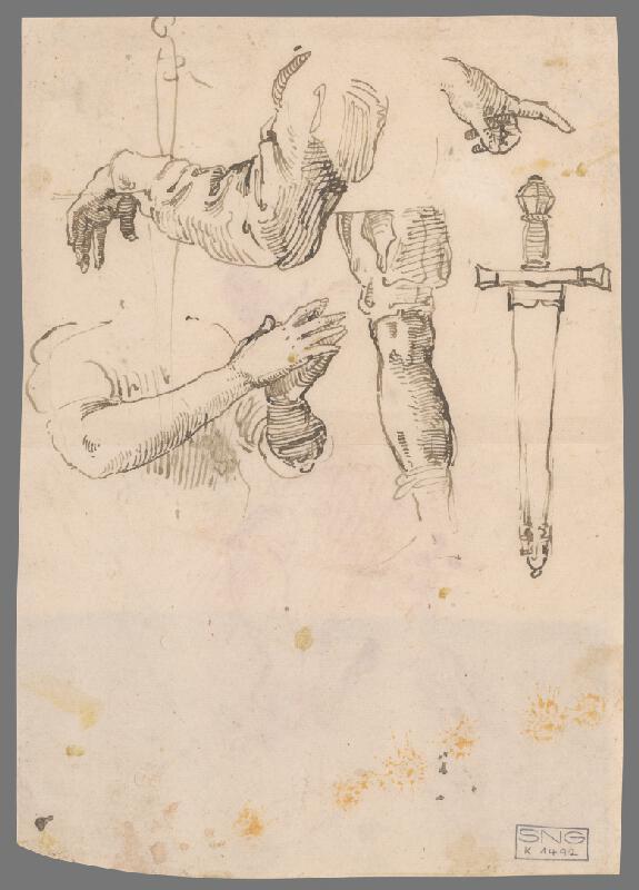 Stredoeurópsky majster z 18. storočia - Study of Male Nude