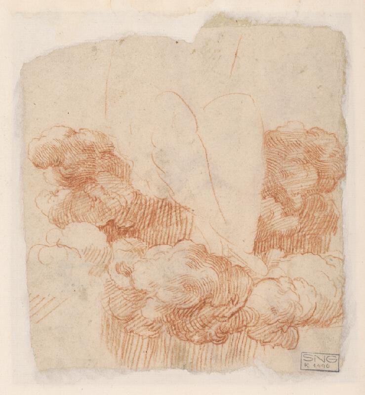 Stredoeurópsky majster z 18. storočia – Štúdie nôh s drapériou