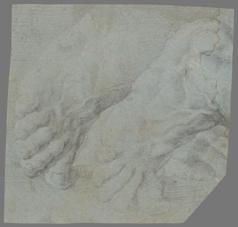 Stredoeurópsky majster z 18. storočia - Štúdia mužských chodidiel