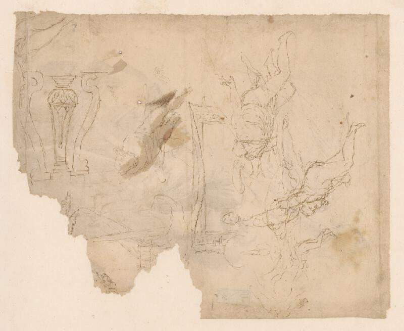Taliansky maliar z 18. storočia - Figurálna a ornamentálna štúdia