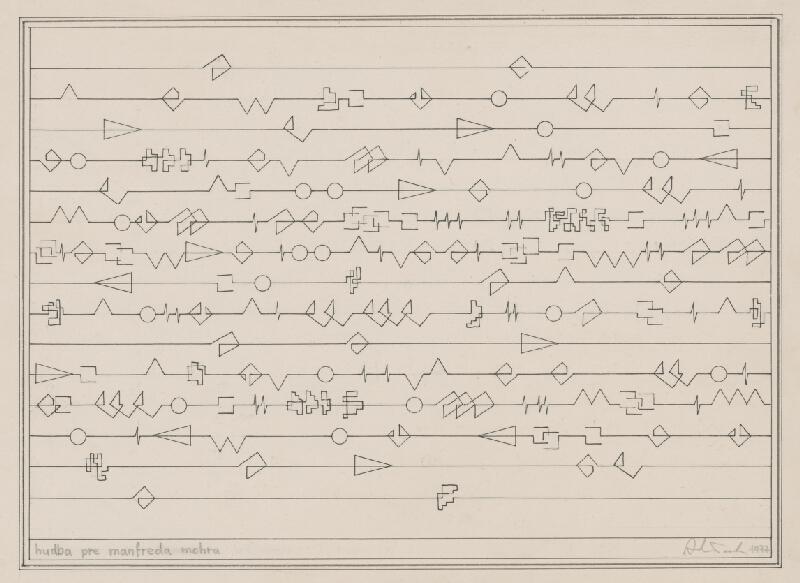 Milan Adamčiak – Hudba pre Manfreda Mohra, 1977, Slovenská národná galéria