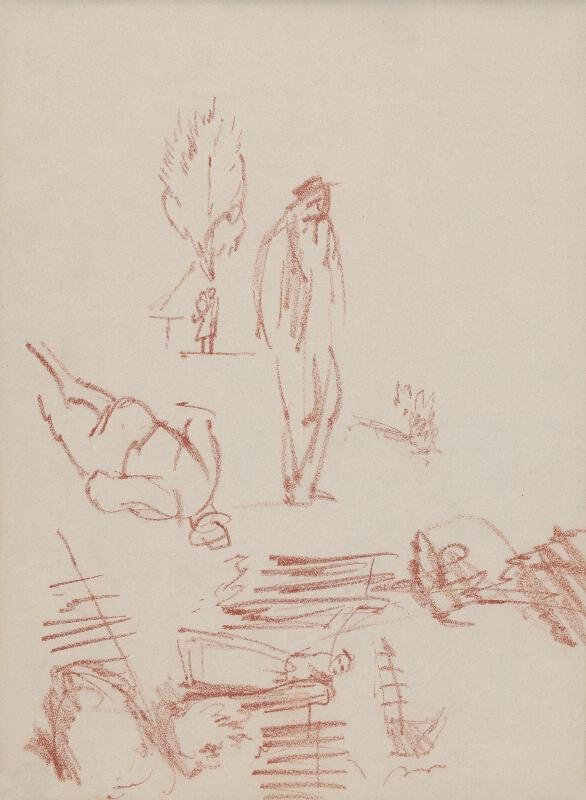 Ján Novák - Drobné skice mužských a ženských postáv
