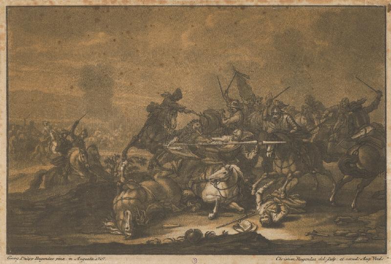 Christian Rugendas, Georg Philipp Rugendas st. - Jazdecká bitka