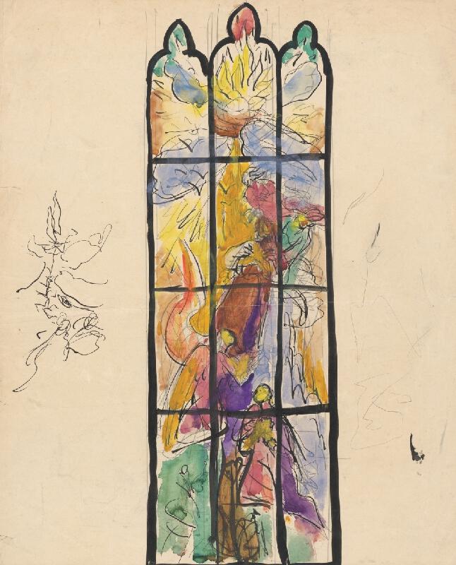 Ján Novák - Návrh na sklenené okno