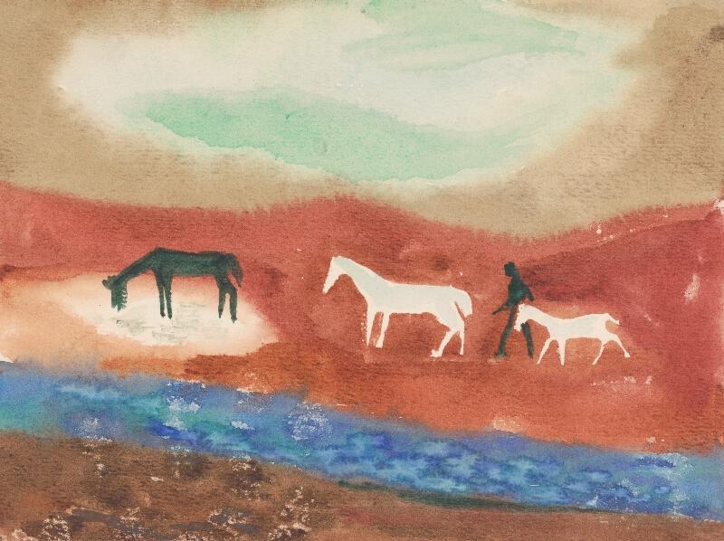 Ervín Semian - Pastier s troma koníkmi