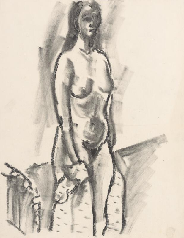 Eugen Nevan - Stojaci ženský akt