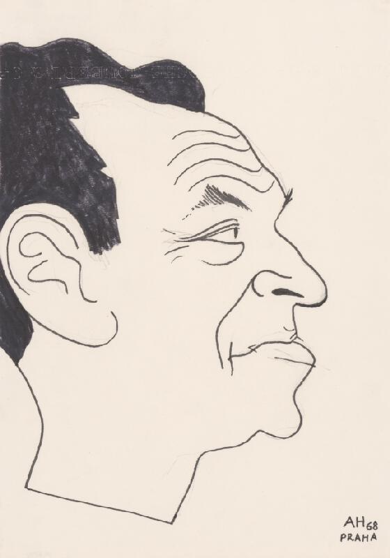 Adolf Hoffmeister – Karikatúrny portrét Petra Karvaša III.