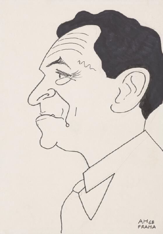 Adolf Hoffmeister - Karikatúrny portrét Petra Karvaša IV.