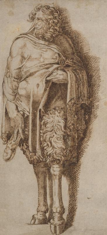 Taliansky maliar zo 16. storočia - Stojaci faun
