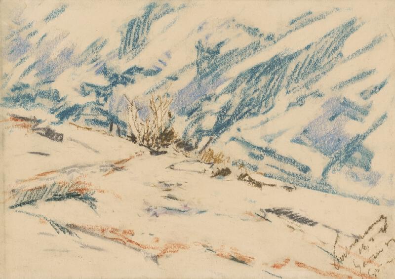 Zolo Palugyay - Zasnežená horská stráň