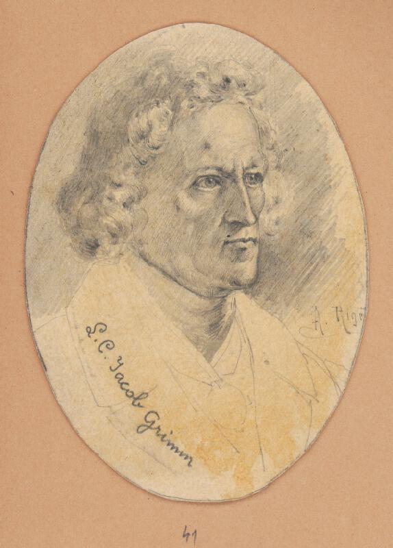 Alojz Rigele - Portrétna štúdia Jacoba Grimma