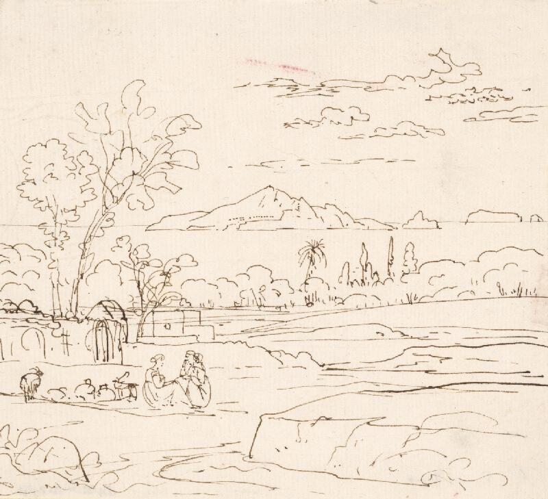Holandský maliar z 18. storočia - Krajina