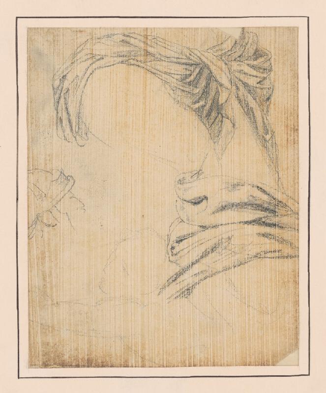 Francúzsky maliar z 18. storočia - Štúdia látky