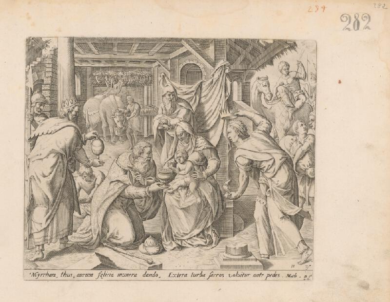Claes Jansz. Visscher - Klaňanie Troch kráľov