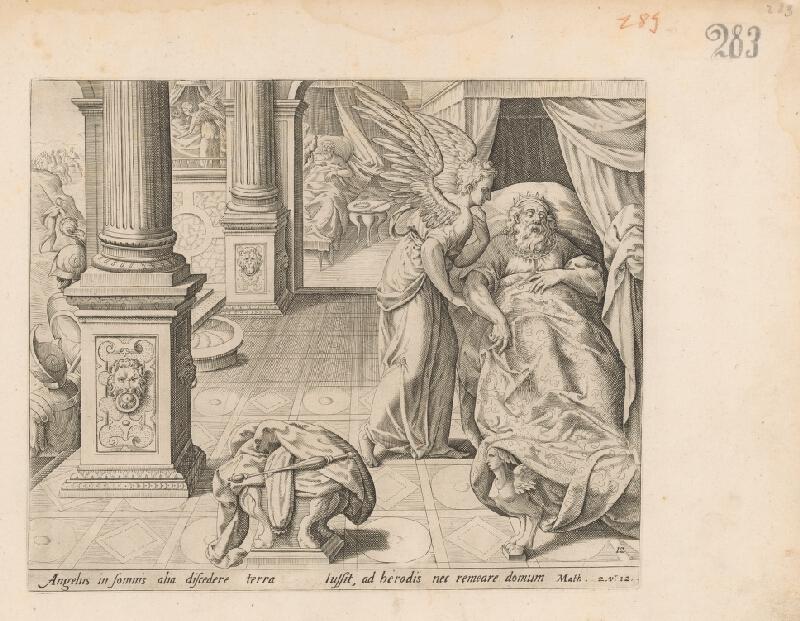 Claes Jansz. Visscher – Anjel nad spiacim mužom