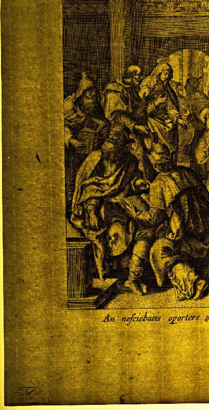 Claes Jansz. Visscher, Maarten de Vos st. – Kristus medzi učencami