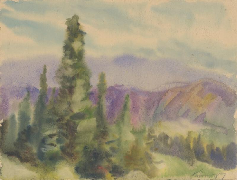 Zolo Palugyay - Motív z liptovských hôr