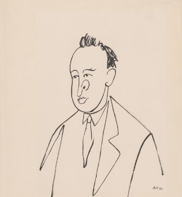 Adolf Hoffmeister - Karikatúrna kresba - Pavol Horov