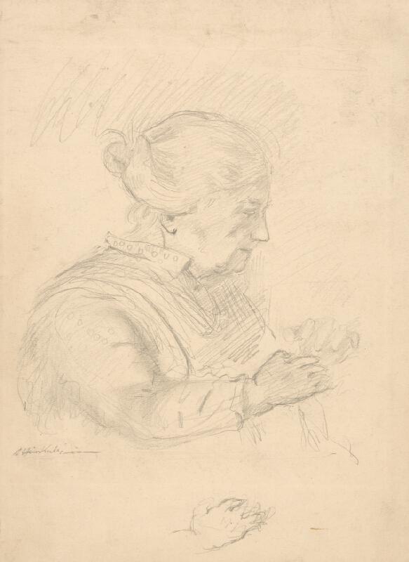 Arnold Peter Weisz-Kubínčan - Náčrt starej ženy