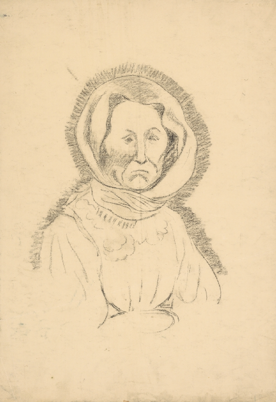 Arnold Peter Weisz-Kubínčan - Podobizeň starej ženy v šatke