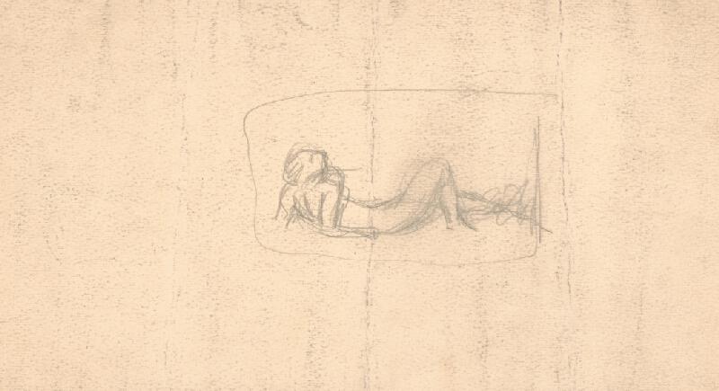 Arnold Peter Weisz-Kubínčan - Ženský akt ležiaci v tráve