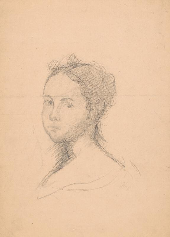 Arnold Peter Weisz-Kubínčan - Náčrt ženského portrétu