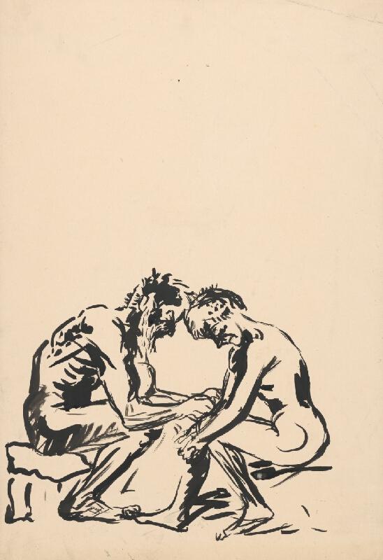 Arnold Peter Weisz-Kubínčan – Dvaja sediaci muži