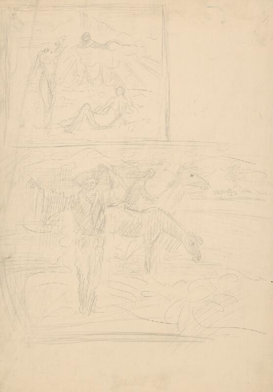 Arnold Peter Weisz-Kubínčan - Dva náčrty figurálnych kompozícií