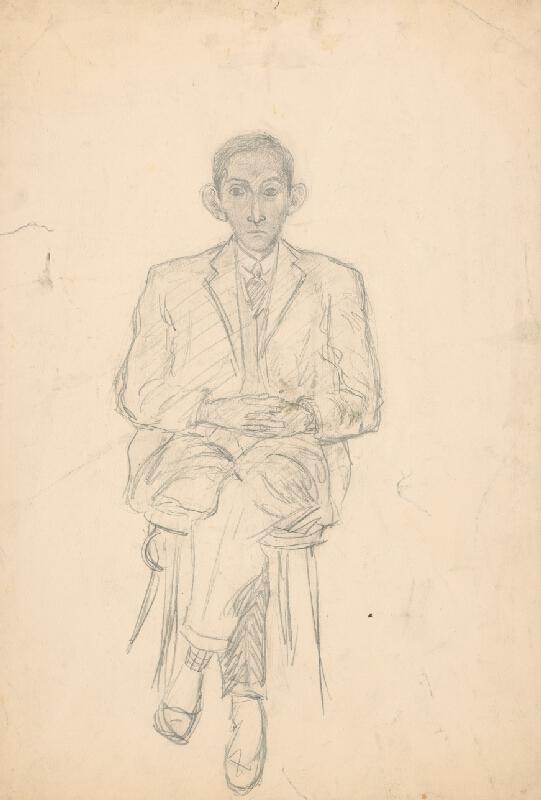 Arnold Peter Weisz-Kubínčan – Štúdia sediaceho muža