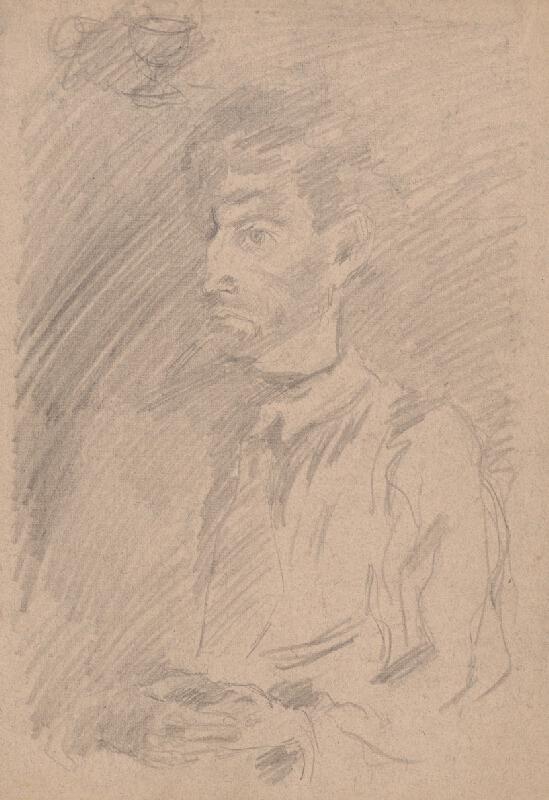 Arnold Peter Weisz-Kubínčan - Portrét muža z trojštvrťového profilu