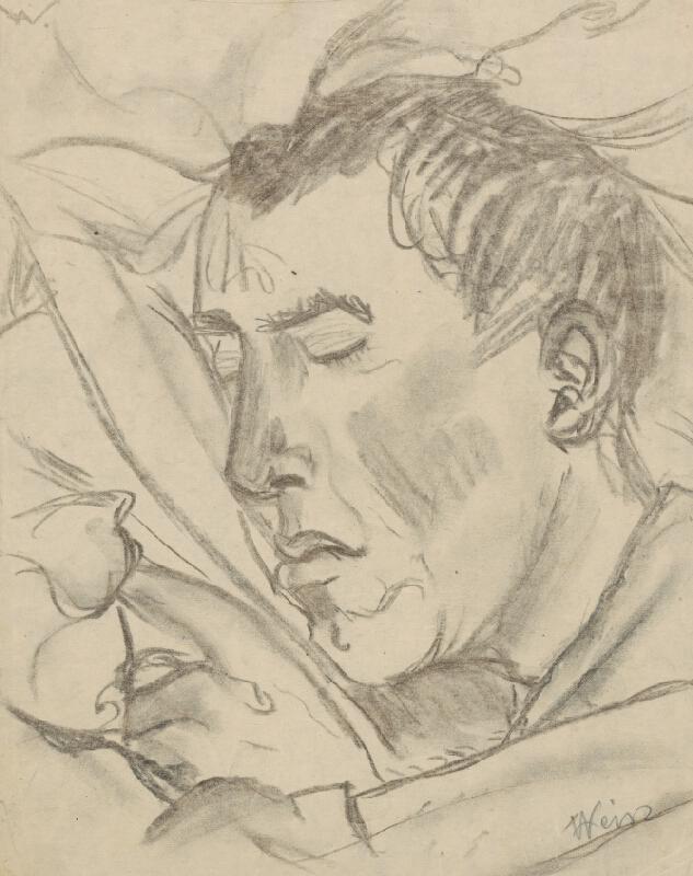 Arnold Peter Weisz-Kubínčan - Hlava spiaceho muža