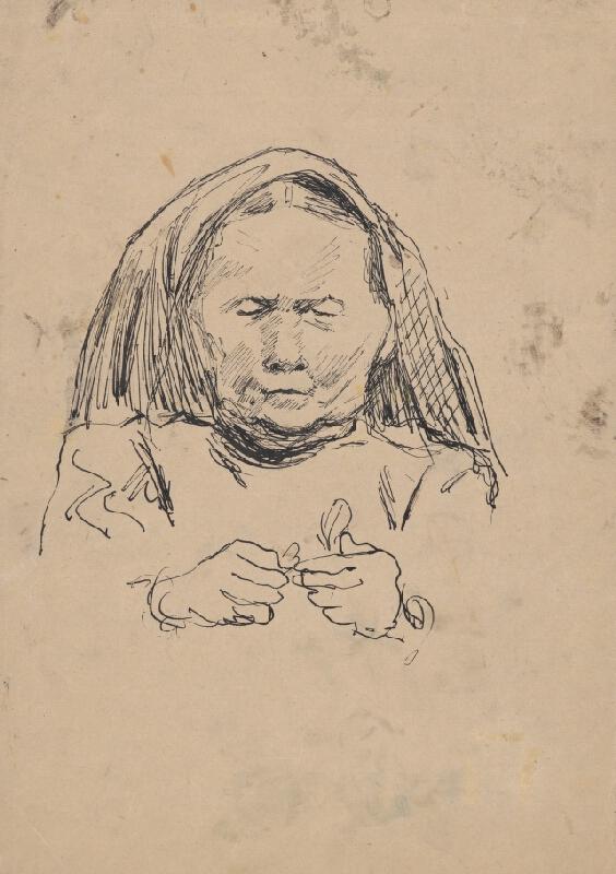 Arnold Peter Weisz-Kubínčan - Hlava stareny v šatke
