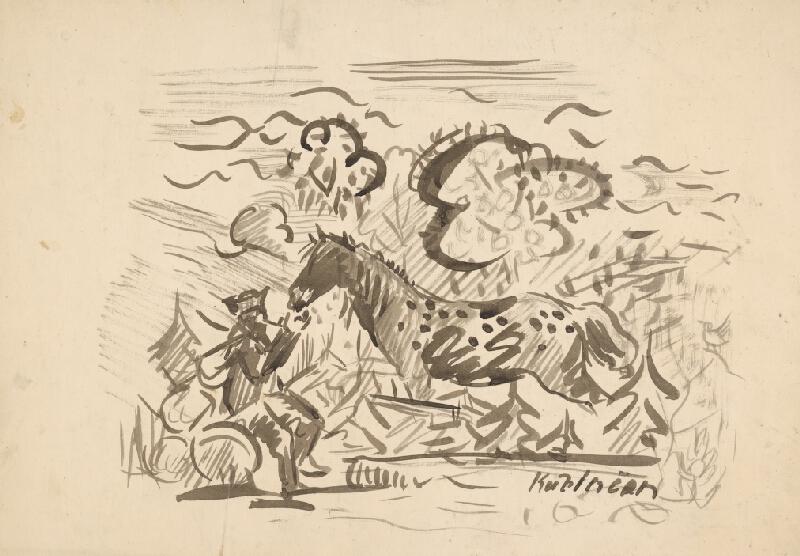 Arnold Peter Weisz-Kubínčan – Pastier s koňom