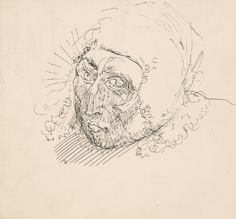 Arnold Peter Weisz-Kubínčan - Náčrt hlavy