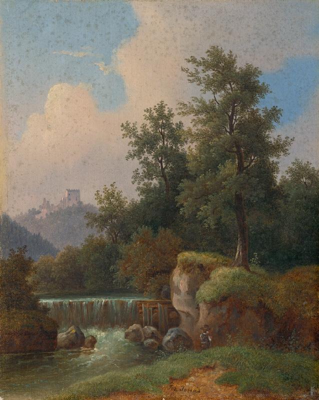 Jozef Jonáš - Krajina s hradom a so splavom