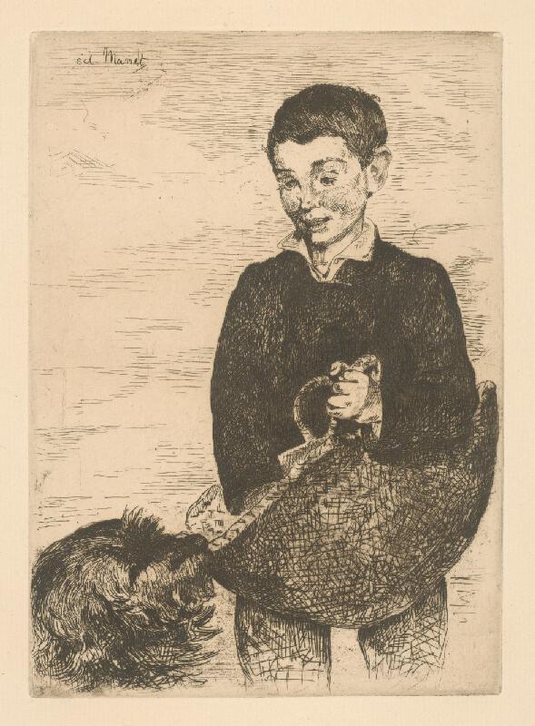 Edouard Manet - Chlapec so psom