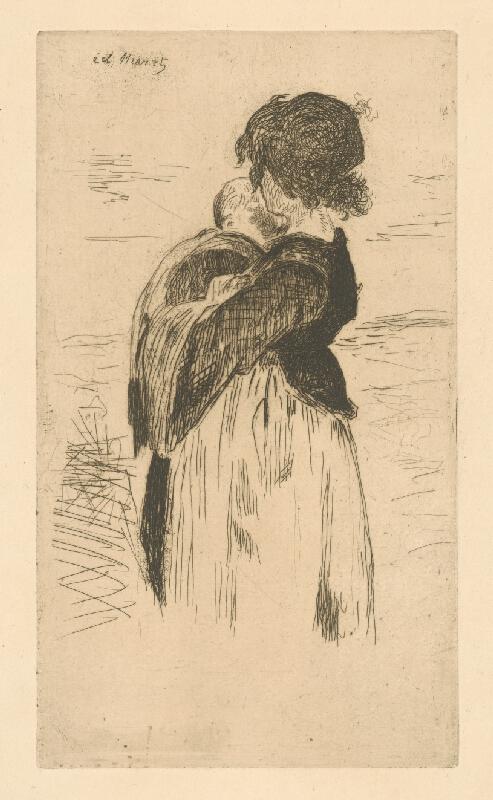 Edouard Manet - Mladá žena s dieťaťom