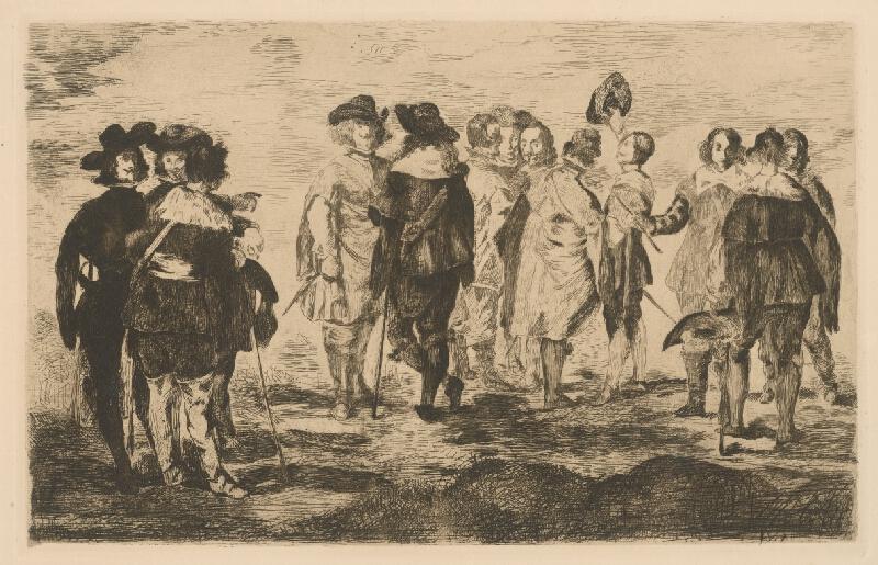 Edouard Manet - Malí gavalieri podľa Velasqueza