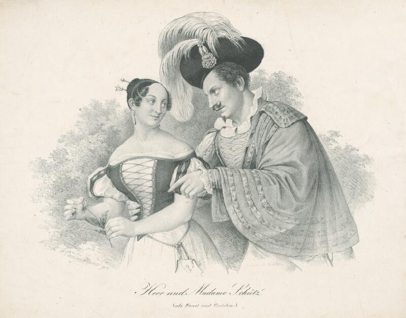 Cäcilie Brandt - Pán a pani Schütz (ako Faust a Grétka)