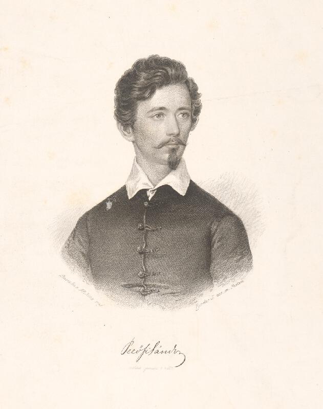 Miklós Barabás, József Tyroler - Petöfy Sándor