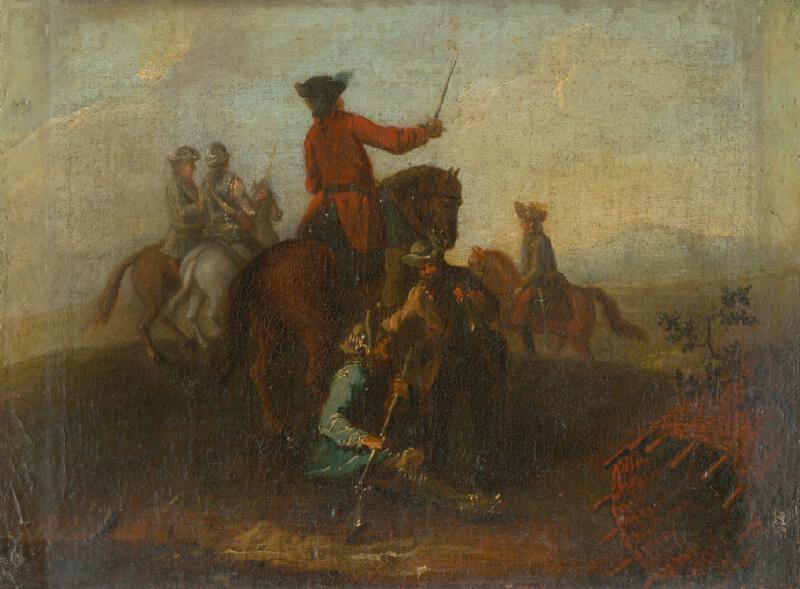Nemecký maliar z polovice 18. storočia - Pred bitkou