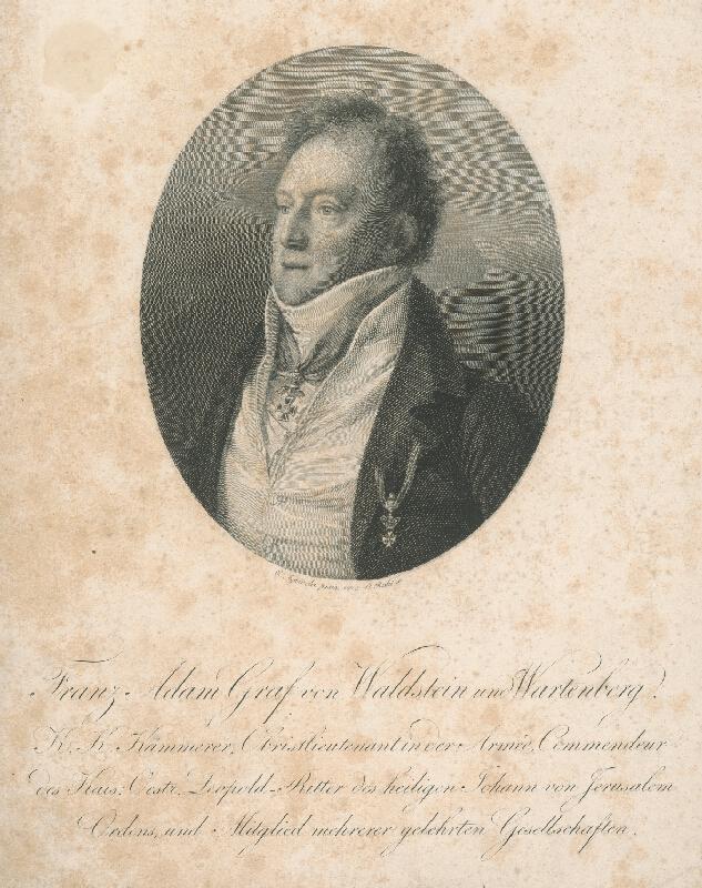 Carl Rahl, Karl Joseph Aloys Agricola - Gróf František Adam z Waldsteina a Wartenbergu