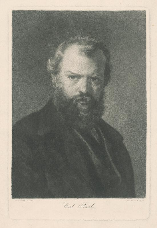 Carl Rahl, Charles François Mayer - Autoportrét maliara Carla Rahla