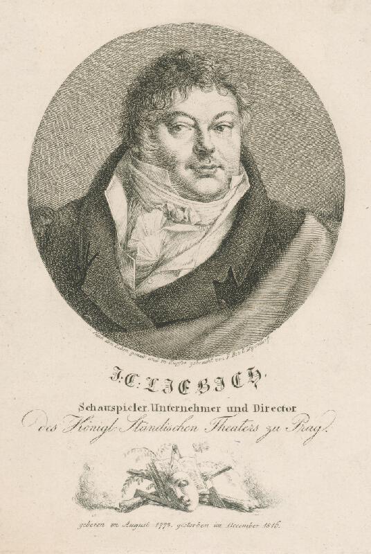 Ferdinand Karl Theodor Lütgendorff - Podobizeň J.Liebicha,riaditeľa pražského divadla