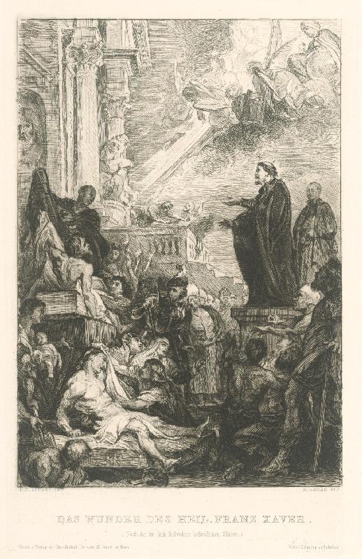 Wilhelm Unger, Peter Paul Rubens - Zázrak sv. Františka Xaverského