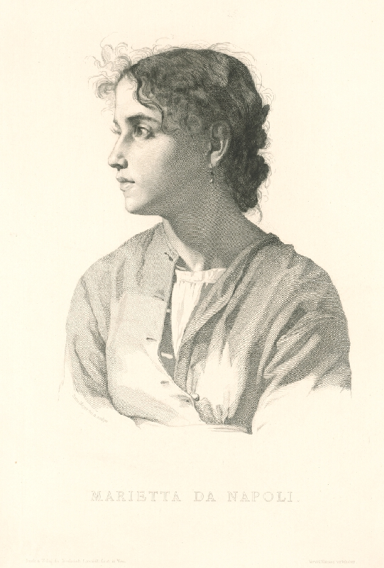 Hans Meyer - Podobizeň Marietty da Napoli